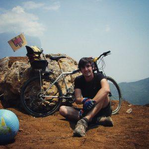 Et moi ! Durant mon voyage à vélo de Mexico à Panama. Etat de Oaxaca, Mexique