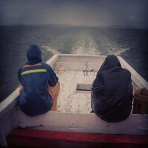Sur la mer des Célèbes avant de rejoindre un Bagang (bateau de pêche), Indonésie