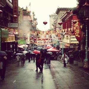 Le quartier de Chinatown durant l e Nouvel An chinois à San Francisco, USA.
